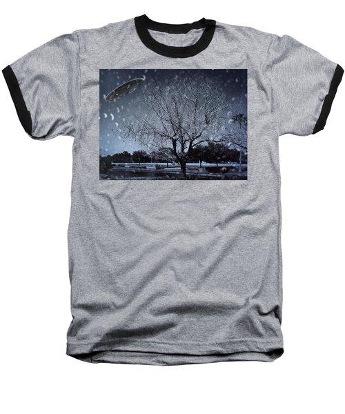 We Are Not Alone Baseball T-Shirt by Carlos Avila