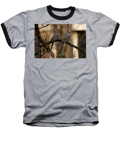 Baseball T-Shirt featuring the photograph We Came Together - We're Leaving Together by Robert L Jackson