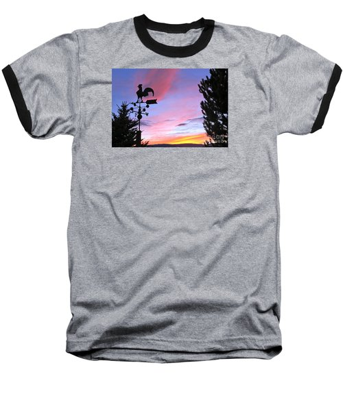 Weather Vane Sunset Baseball T-Shirt