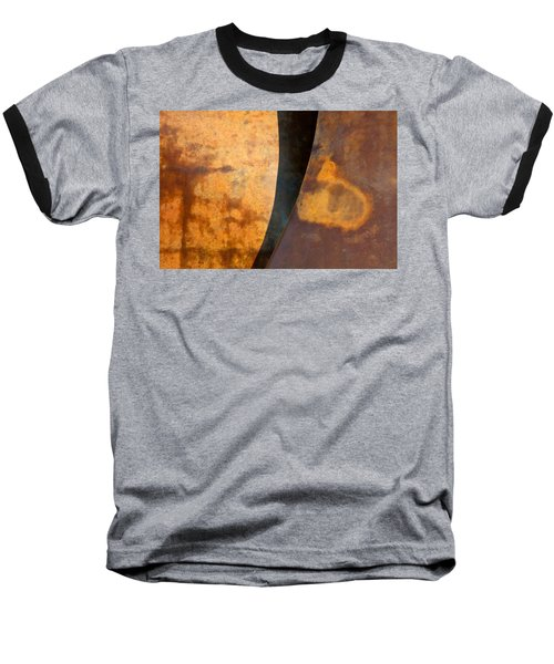 Weathered Bronze Abstract Baseball T-Shirt