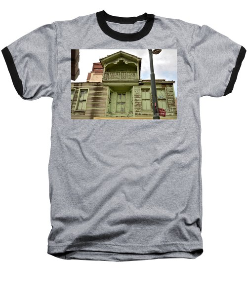 Baseball T-Shirt featuring the photograph Weathered Old Green Wooden House by Imran Ahmed