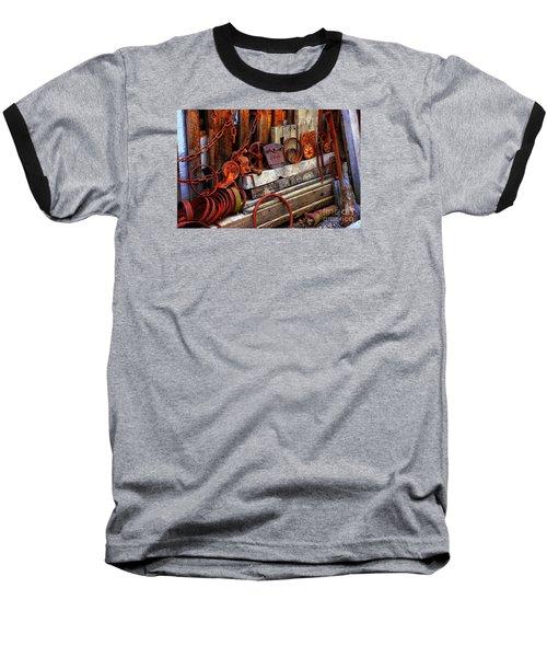 Weathered Rims And Chains Baseball T-Shirt
