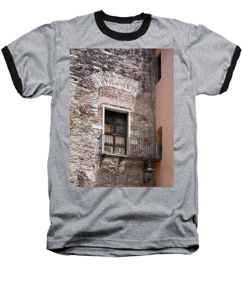 Baseball T-Shirt featuring the photograph Weathered Wooden Church Doors by Lynn Palmer