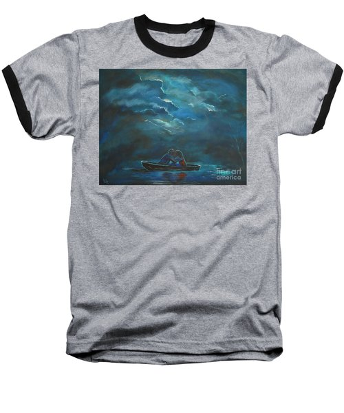 Weathering The Storm Baseball T-Shirt by Leslie Allen