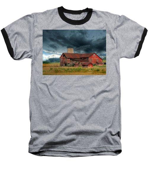 Weathering The Storm Baseball T-Shirt by Lori Deiter