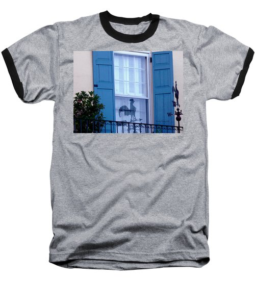Baseball T-Shirt featuring the photograph Charleston Weathervane Reflection by Kathy Barney