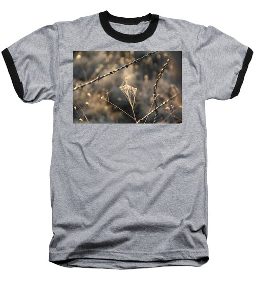 Baseball T-Shirt featuring the photograph web by David S Reynolds