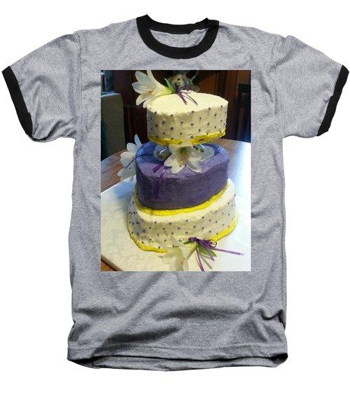 Wedding Cake For May Baseball T-Shirt by Fortunate Findings Shirley Dickerson