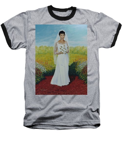 Wedding Day Baseball T-Shirt by Stacy C Bottoms