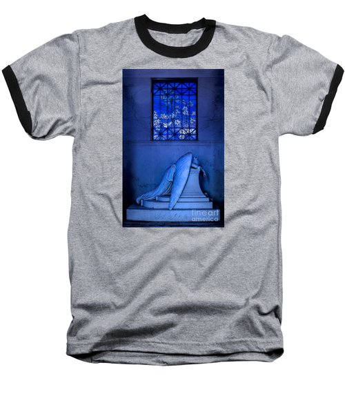 Weeping Angel Baseball T-Shirt by Jerry Fornarotto
