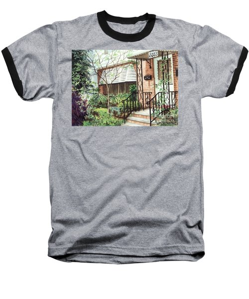 Baseball T-Shirt featuring the painting Welcome Home by Barbara Jewell
