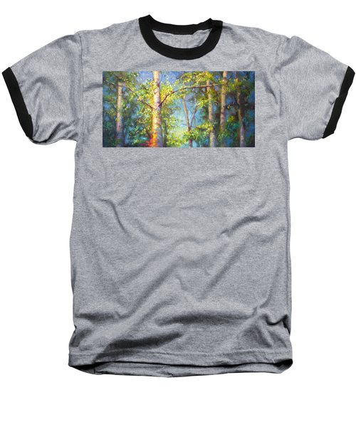 Welcome Home - Birch And Aspen Trees Baseball T-Shirt