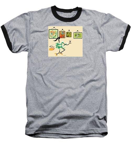 Welcome To My Art Show Baseball T-Shirt by Iris Gelbart