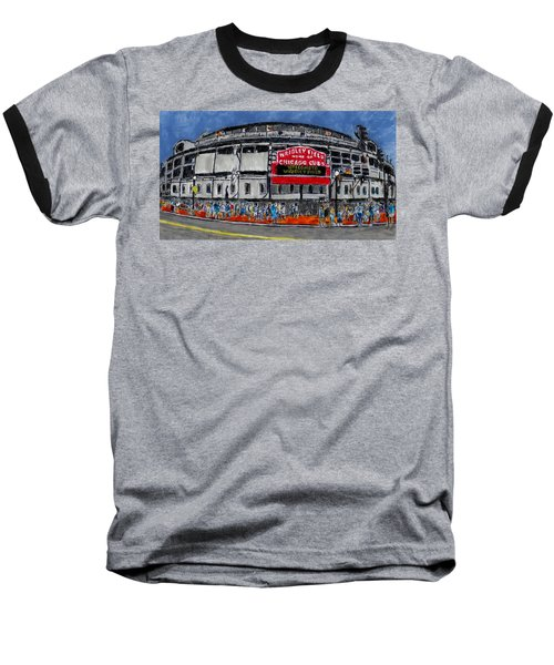 Welcome To Wrigley Field Baseball T-Shirt by Phil Strang