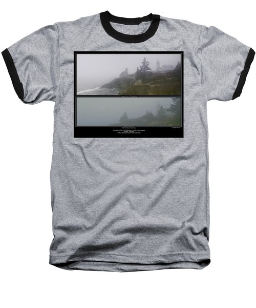 Baseball T-Shirt featuring the photograph We'll Keep The Light On For You by Marty Saccone