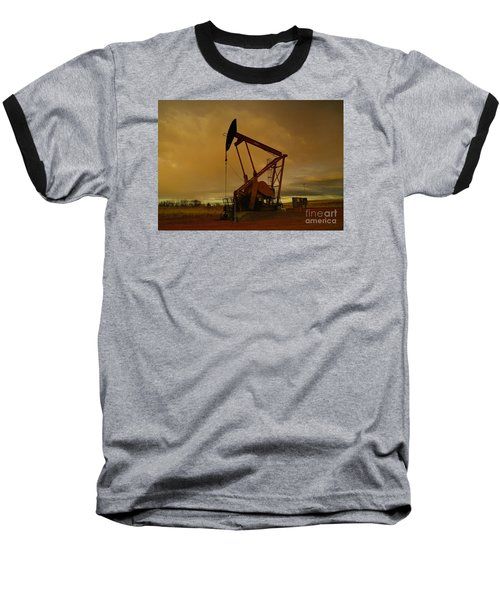 Wellhead At Dusk Baseball T-Shirt by Jeff Swan
