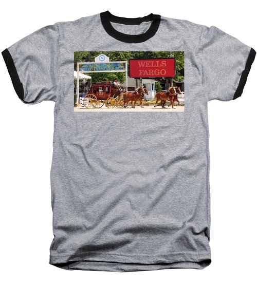 Baseball T-Shirt featuring the photograph Wells Fargo At Devon by Alice Gipson