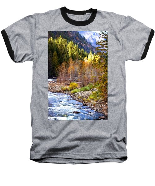 Wenatchee River - Leavenworth - Washington Baseball T-Shirt