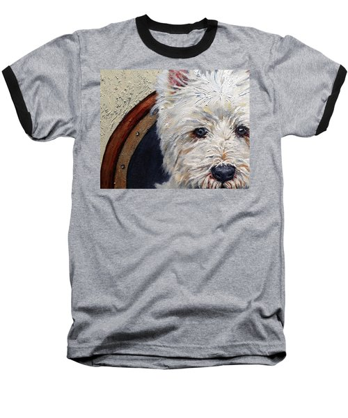 West Highland Terrier Dog Portrait Baseball T-Shirt