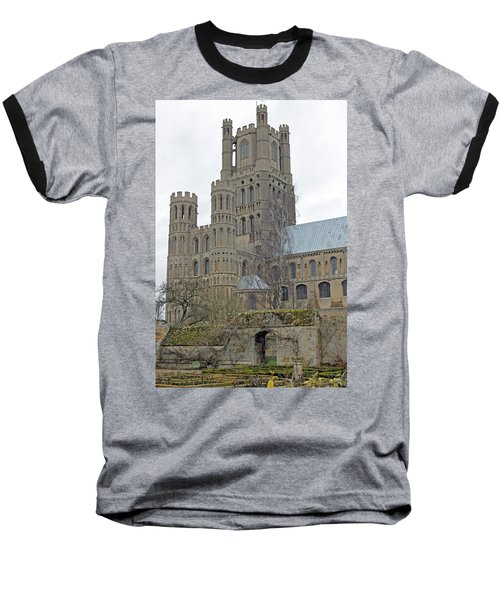 West Tower Of Ely Cathedral  Baseball T-Shirt by Tony Murtagh