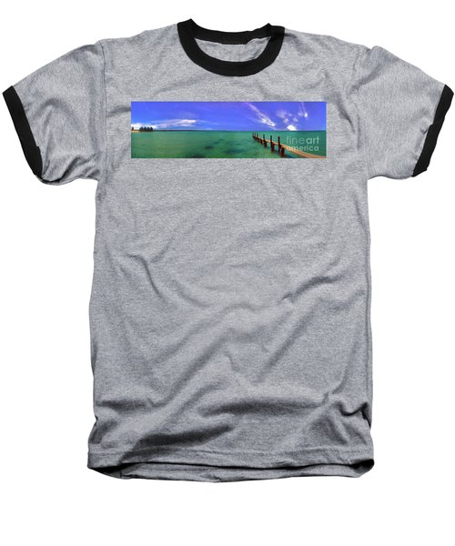 Baseball T-Shirt featuring the photograph Western Australia Busselton Jetty by David Zanzinger
