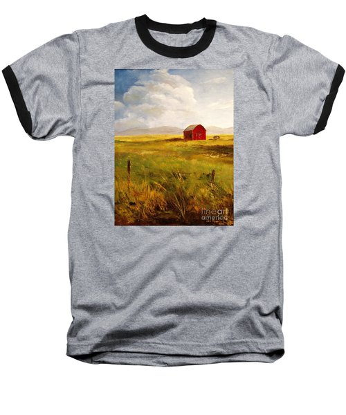 Western Barn Baseball T-Shirt by Lee Piper
