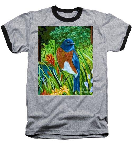 Western Bluebird Baseball T-Shirt