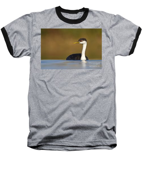Baseball T-Shirt featuring the photograph Western Grebe On The Lake by Bryan Keil