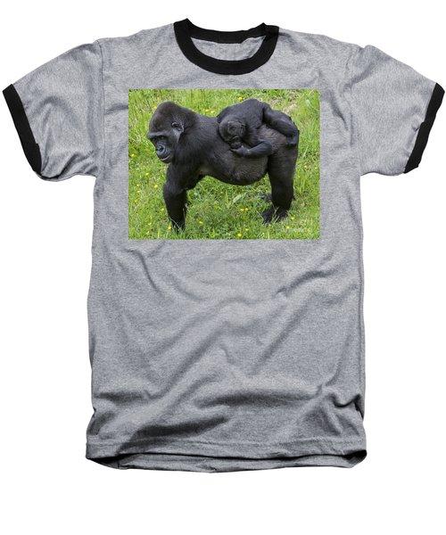 Western Lowland Gorilla 2 Baseball T-Shirt