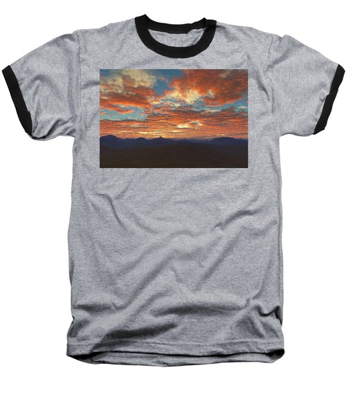 Western Sunset Baseball T-Shirt by Mark Greenberg