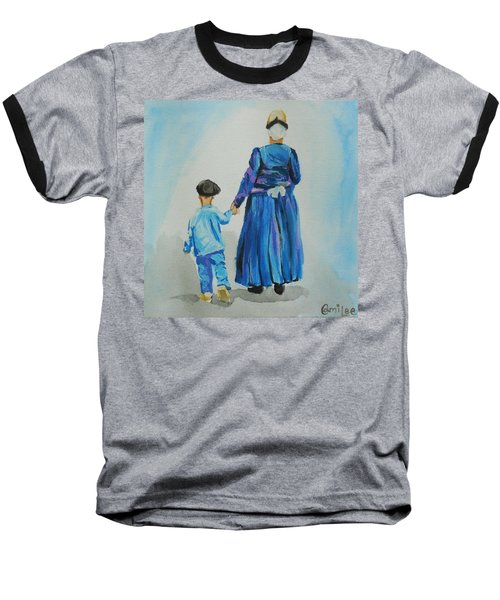 Westfriese Woman And Boy Baseball T-Shirt