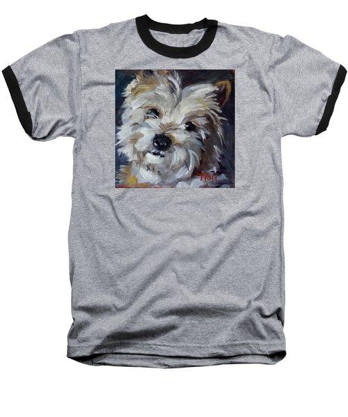 Westie Mix Baseball T-Shirt by Pattie Wall