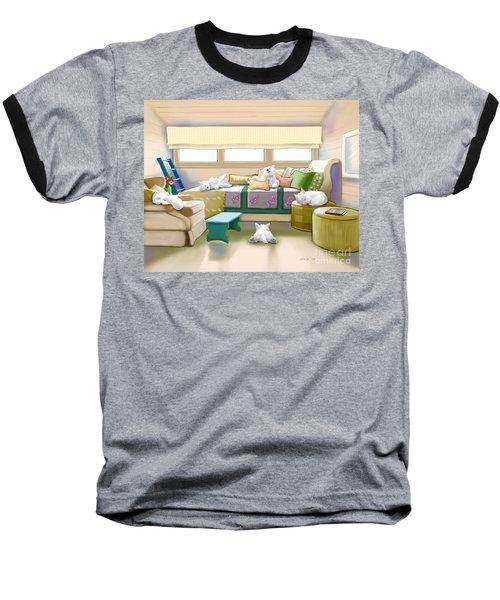 Westie Retreat  Baseball T-Shirt