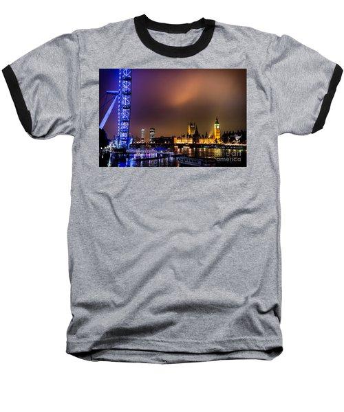 Westminster And Eye Night Glow Baseball T-Shirt by Matt Malloy