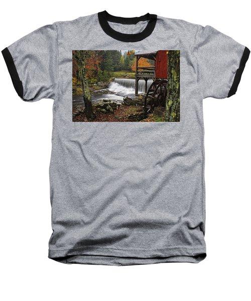 Weston Grist Mill Baseball T-Shirt by Priscilla Burgers