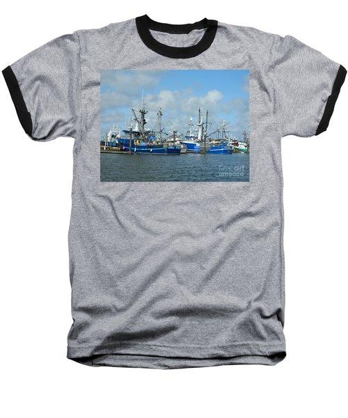 Westport Fishing Boats Baseball T-Shirt by Chalet Roome-Rigdon