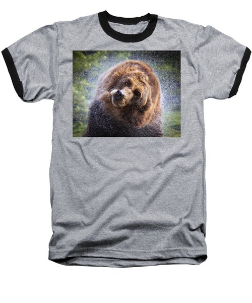 Baseball T-Shirt featuring the photograph Wet Griz by Steve McKinzie