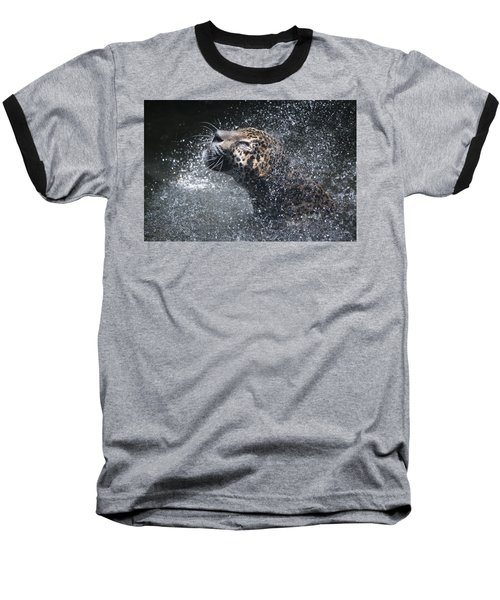 Wet Jaguar  Baseball T-Shirt by Shoal Hollingsworth