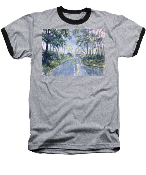 Wet Road In Woldgate Baseball T-Shirt