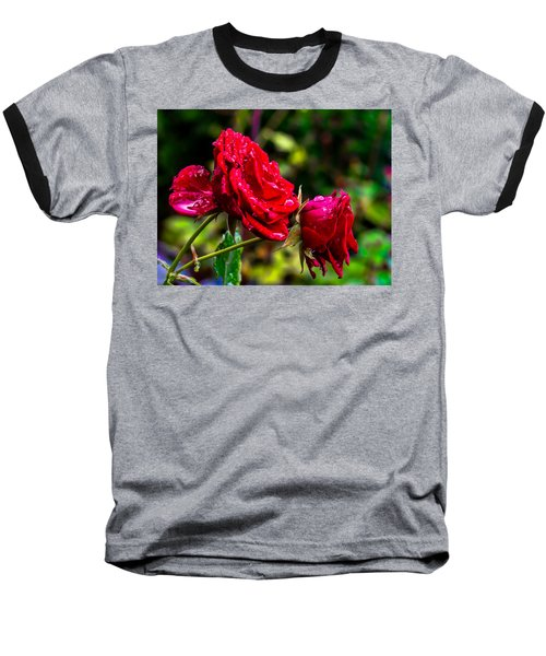 Wet Rose Baseball T-Shirt