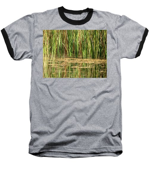 Baseball T-Shirt featuring the photograph Wetlands by Laurel Powell