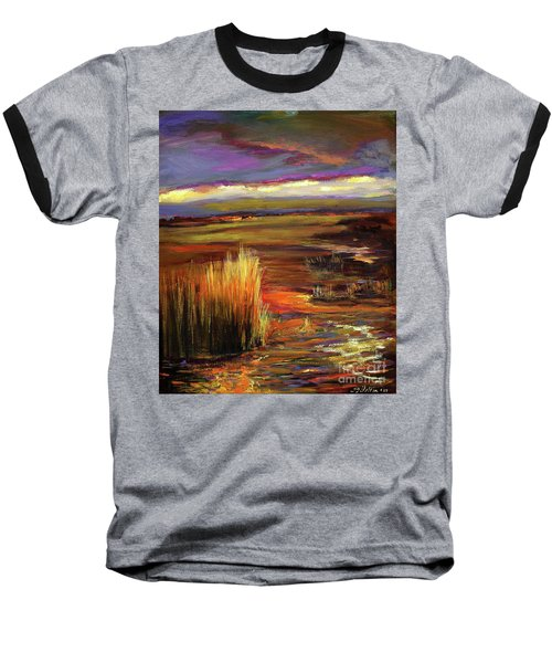 Wetlands Sunset Iv Baseball T-Shirt