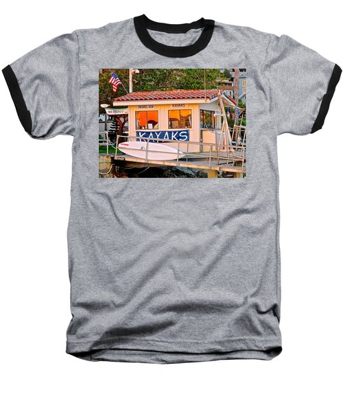 Wetspot Kayak Shack Baseball T-Shirt