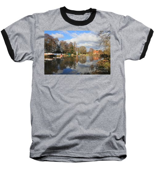 Wey Canal Surrey England Uk Baseball T-Shirt