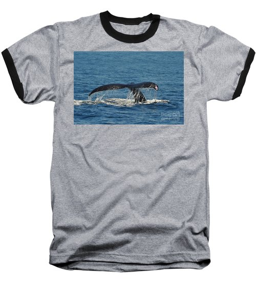 Baseball T-Shirt featuring the photograph Whale Tail by Randi Grace Nilsberg