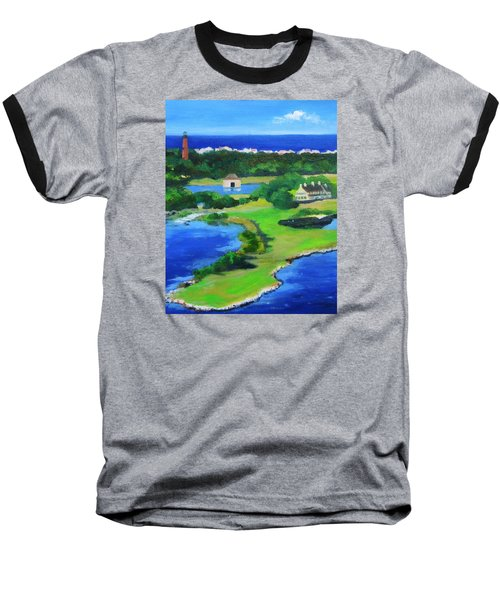 Whalehead Overview Baseball T-Shirt by Anne Marie Brown