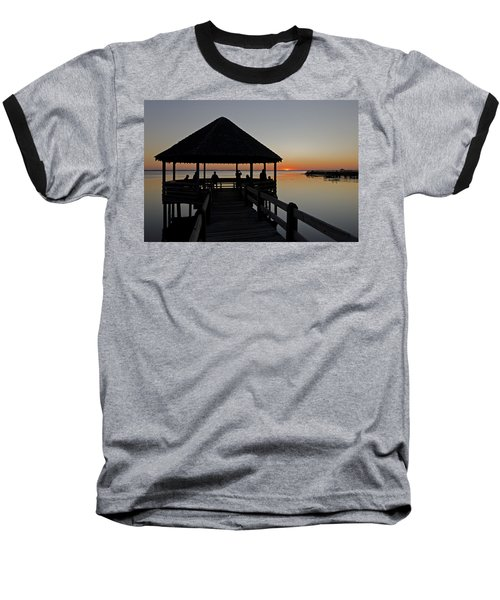 Baseball T-Shirt featuring the photograph Whalehead Sunset Obx by Greg Reed
