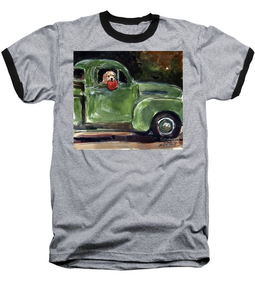 Baseball T-Shirt featuring the painting Wham-o by Molly Poole