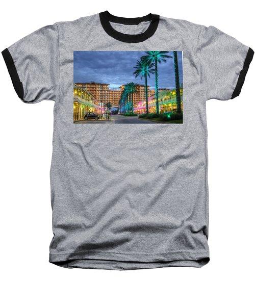 Wharf Turquoise Lighted  Baseball T-Shirt by Michael Thomas