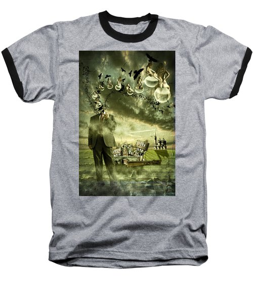 Baseball T-Shirt featuring the photograph What Are You Thinking by Nathan Wright